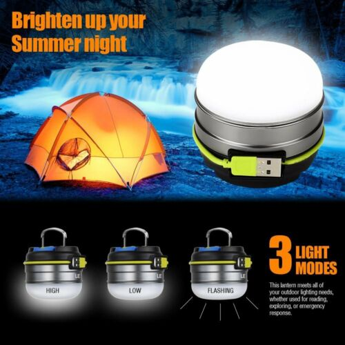 3000mAh Energiebank USB aufladbar Campingleuchte 3 Modi LED Campinglampe