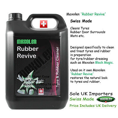 Maxolen Rubber Revive 5000ml Tyre and Rubber Trim Surround Mats Cleaner Dressing