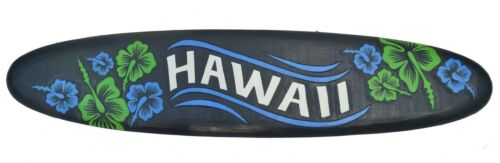 Hawaii Surfboard 100cm Holzschild Surfbrett Wandmaske Blumen Tiki Holz Board