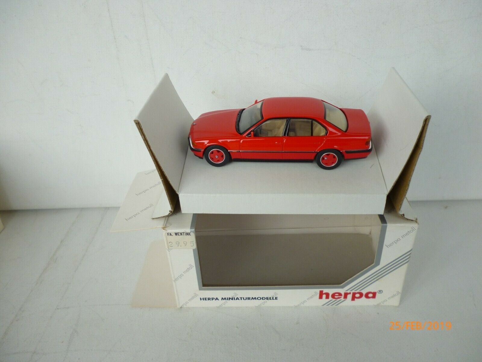 BMW 740i E38 (1994) HERPA in OVP RACING rot  750i RAR  NM BOXED