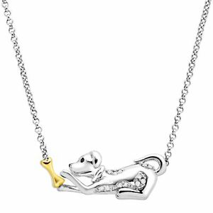 Dog-amp-Bone-Necklace-with-Diamonds-in-Sterling-Silver-amp-14K-Gold