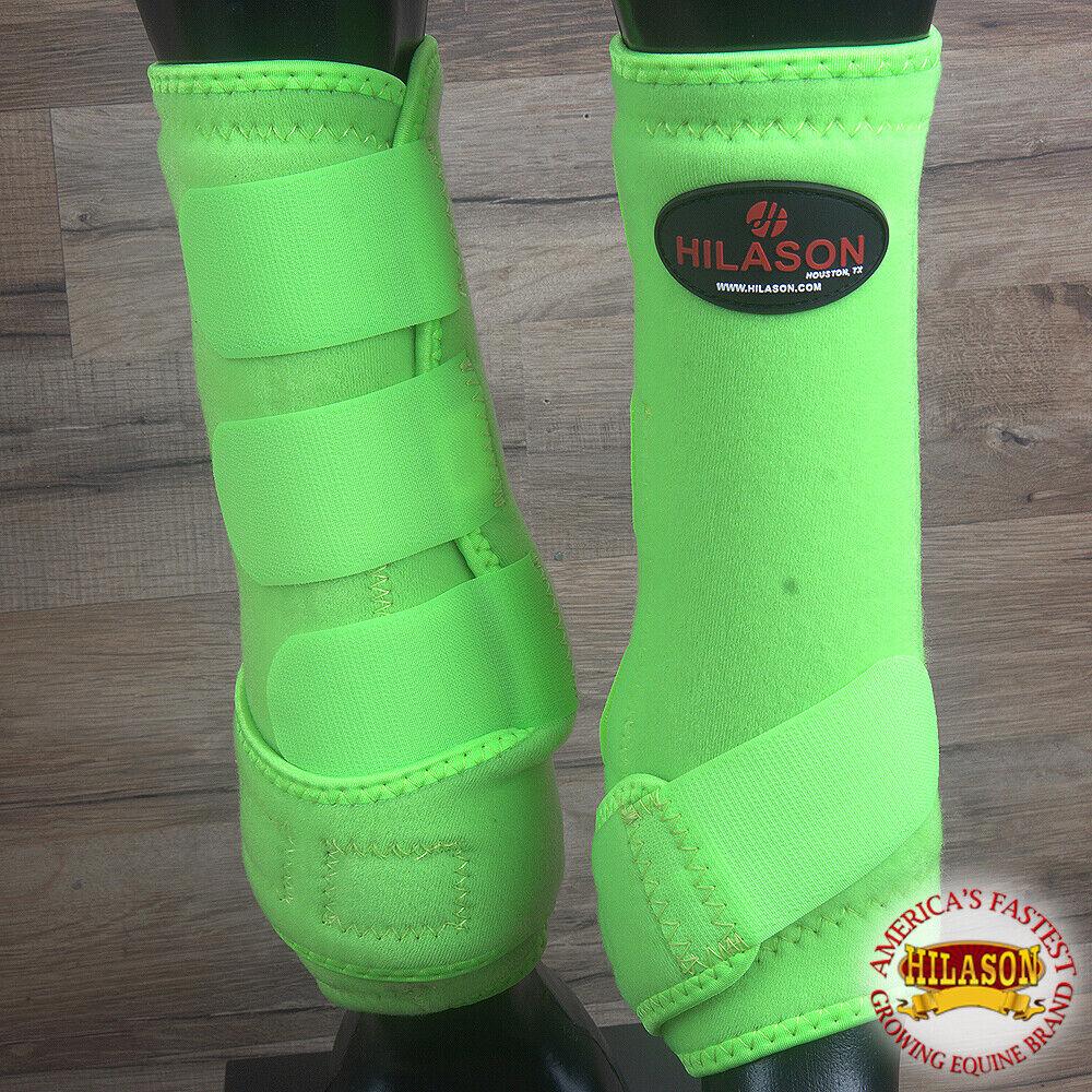 Hilason Infra Tech Horse Medicine Sports Boots Front Leg Lime Green U-0GRN