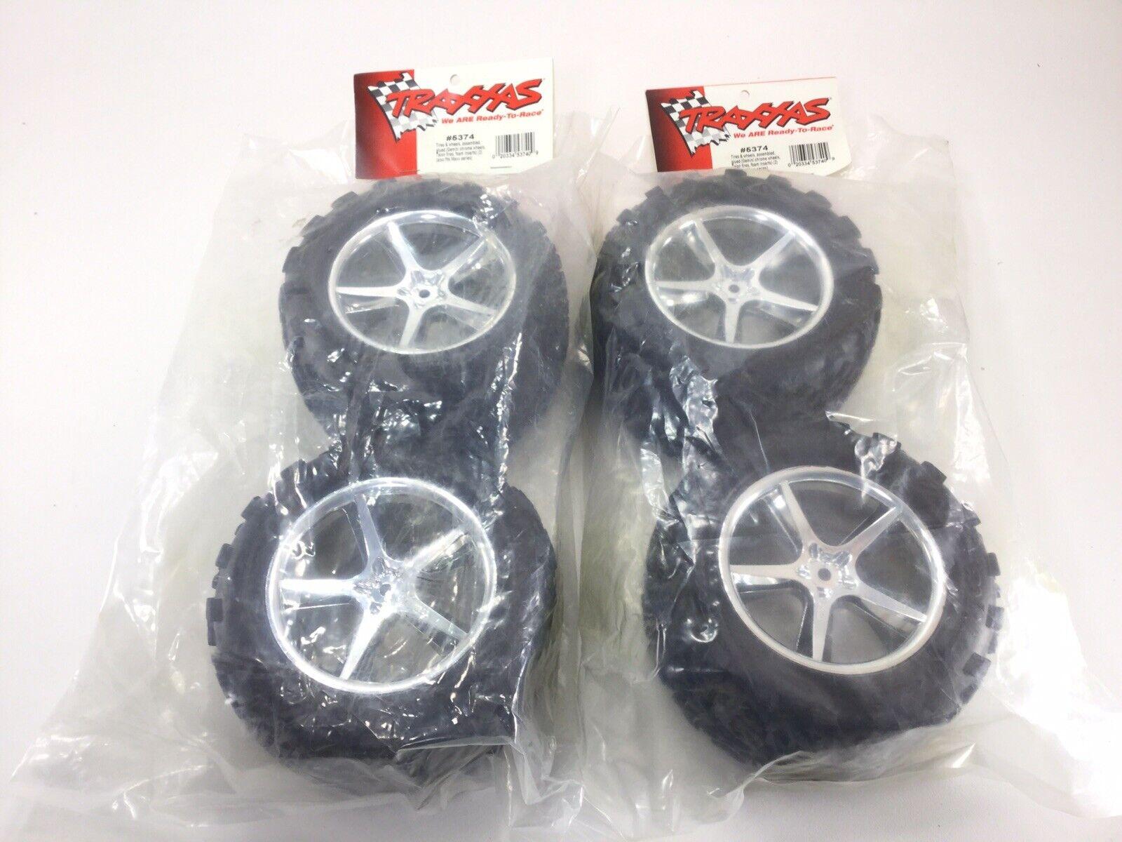 Traxxas 5374 Neumáticos Ruedas Gemini Cromo Talon Maxx Revo