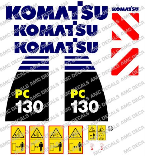 KOMATSU PC130-8 DIGGER DECAL STICKER SET