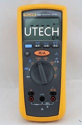 New Geniune Fluke 1508 F1508 Digital Megger Insulation Resistance Tester  Meter | eBay