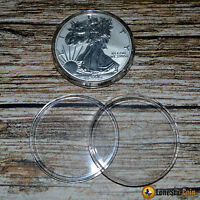 10 Direct Fit Coin Capsules For American Silver Eagles