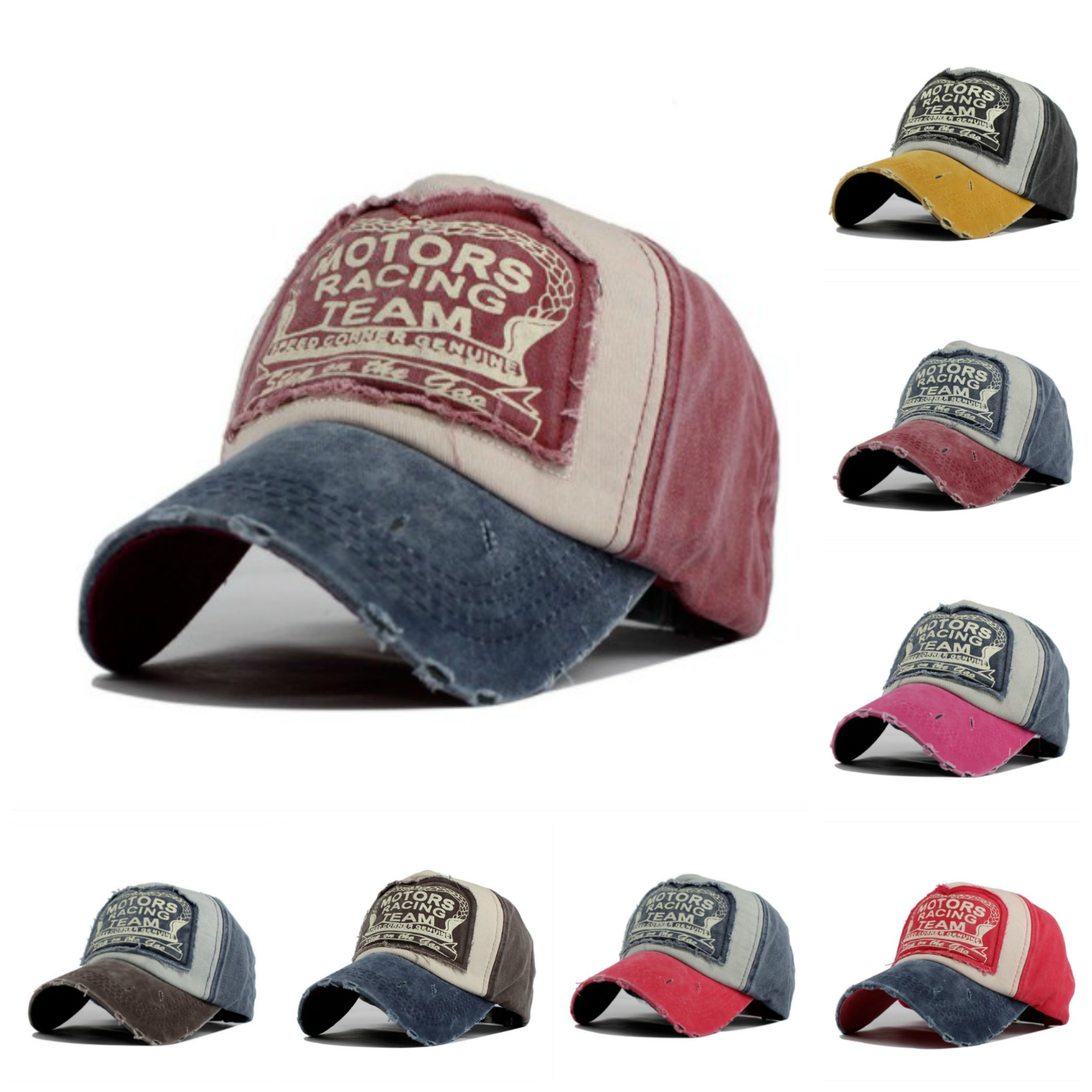 24885e10 Details about Summer Baseball Cap Trucker Adjustable Snapback Vintage  Cotton Hat Men Women USA
