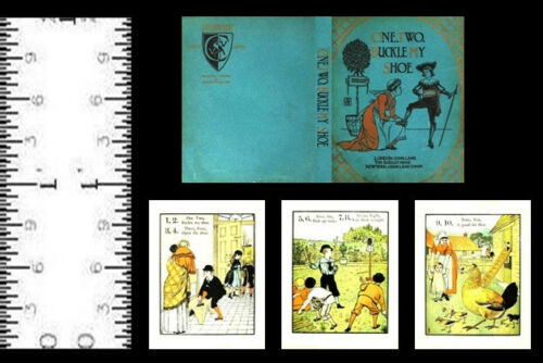 112 MINIATURE BOOK ONE, TWO, BUCKLE MY SHOE WALTER CRANE