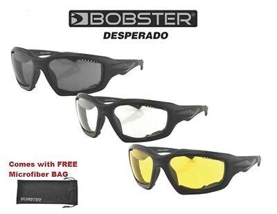 Bobster Sunglasses DESPERADO Padded Riding Harley Davidson Floating Sun-Glasses