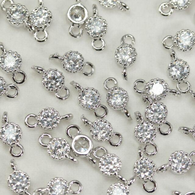 Round Metal Beads Connectors links Pendants - Necklace Earrings Bracelets #P67