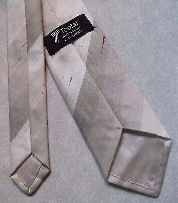 Bello Tie Tootal Vintage Da Uomo Cravatta 1980s Marrone Beige A Righe Strisce Retrò-mostra Il Titolo Originale Eppure Non Volgare