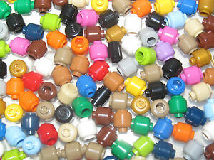 Lego ? Gros Lot x50 Brique Ronde Tete Head Mix Couleur sans visage ref 3626 NEW