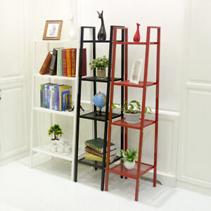 Leaning-Wall-Ladder-Book-Shelf-Bookcase-Storage-Rack-Display-Flower-Plant-Stand