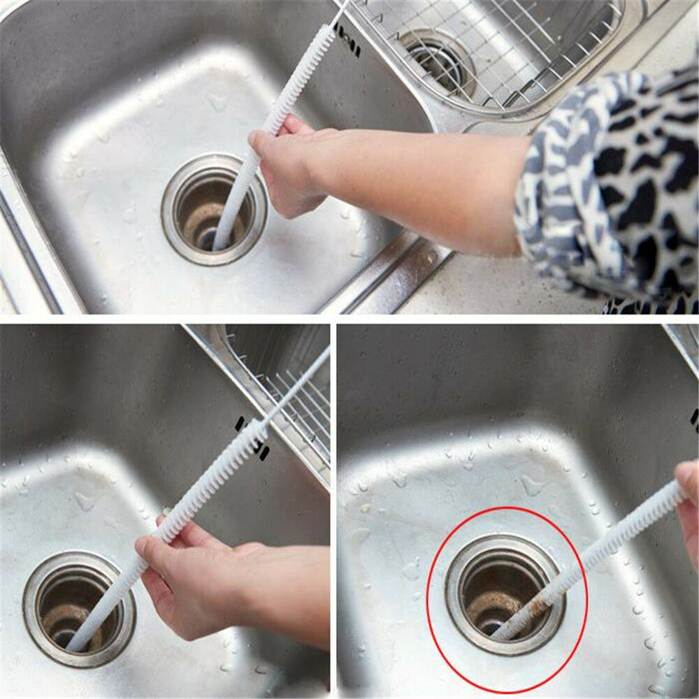 Durable Flexible Sink Overflow Drain Unblocker Clean Brush Cleaner Kitchen Tool