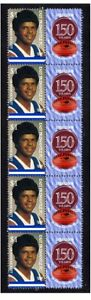 WAFL-150-YEARS-OF-FOOTBALL-STRIP-OF-10-MINT-VIGNETTE-STAMPS-EAST-FREMANTLE-1