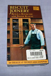 new-BISCUIT-JOINERY-Build-Bookcase-video-tape-Frank-Klausz-VHS-60-min-1999-tool