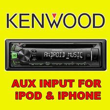 KENWOOD CAR CD USB RADIO STEREO TUNER HEAD UNIT PLAYER iPOD/iPHONE AUX INPUT