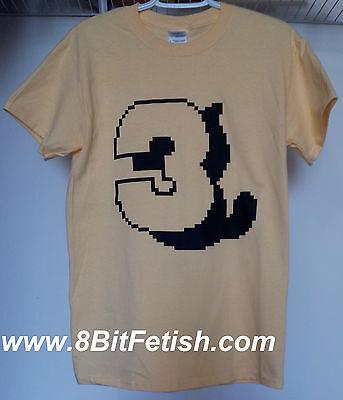 Super Mario Bros 3 Tanooki Shadow Nes Shirt Size Small 8 Bit
