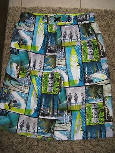 Op 18 Shorts Swim Xxl Surf Velcro Tie Boys Trunks Blue Board Swimwear Elastic wHO4xqxf