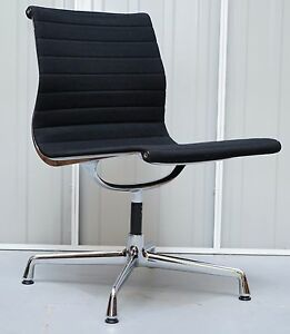 1 OF 2 ORIGINAL RRP £1295 EA101 VITRA EAMES BLACK HOPSAK OFFICE ...