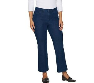 Isaac-Mizrahi-24-7-Denim-Regular-Flare-Ankle-Jeans-Medium-Indigo-Size-16-QVC