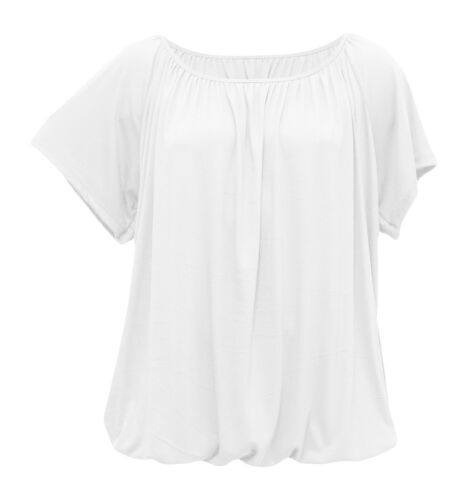 Viskose Damen T-Shirt mit kurzem Arm Raffbund Basic-Shirt für den Sommer