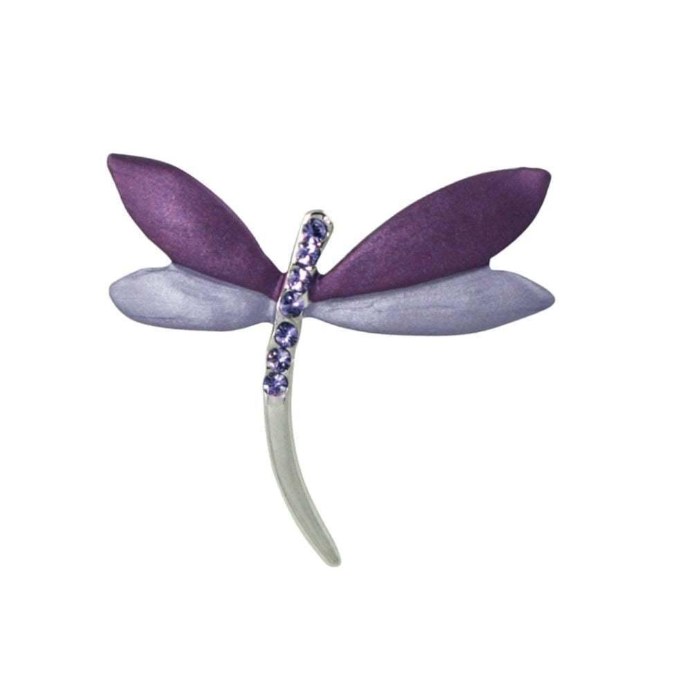 dda0d90402d Dragonfly purplec Enamel Costume Brooch Purple nrligk18606-Brooches ...