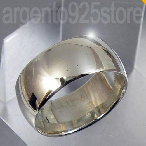 CLASSIC Elegant aa Anello Uomo Donna in argento 925 Fede Fascia larga 8 mm