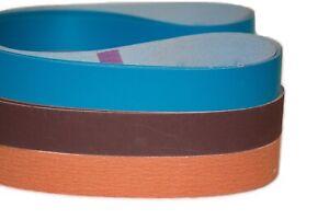 "3pcs 2 x 72 /""Metal Eater/"" Ceramic Sanding Belt 120 Grit"