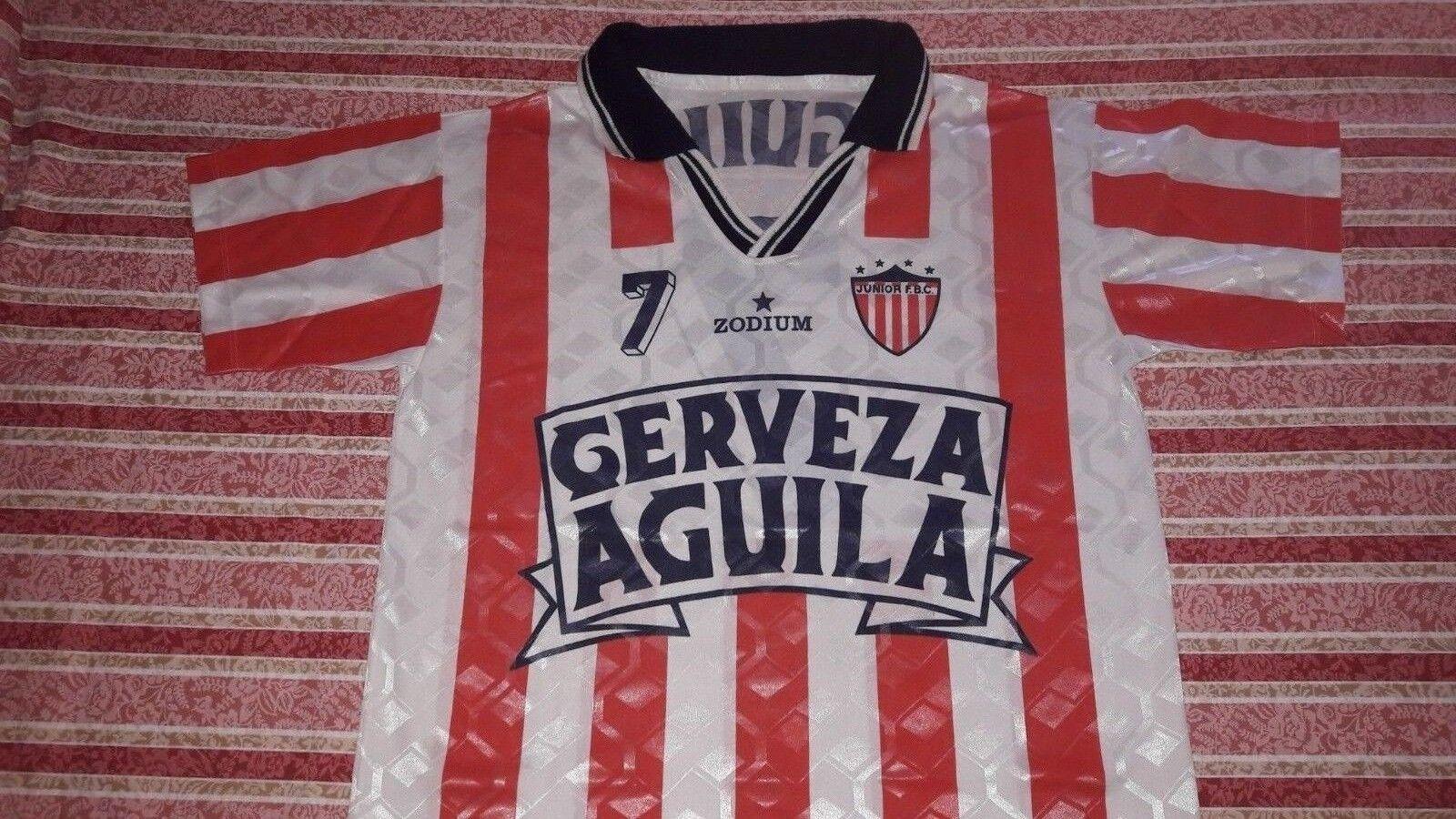 JUNIOR DE BARRANQUILLA VINTAGE SHIRT JERSEY MAGLIA COLOMBIA camiseta VALDERRAMA
