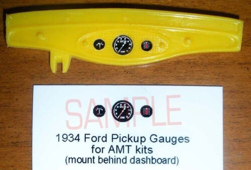 1934 FORD PICKUP GAUGE FACES for 1//25 scale LINDBERG KITS