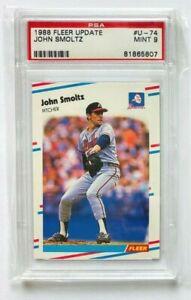 1988 Fleer Update John Smoltz RC #U-74, PSA 9 Mint, Braves Rookie!