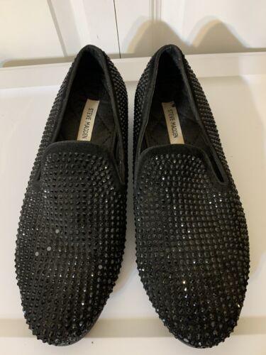 Steve Madden Men's Sz 10 Formal Caviar Black Loafe