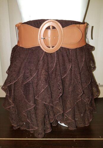 Girls Racheal Skirt Chloe Removable Brown And Casual Ruffled Belt Medium Wear TOxgBOq