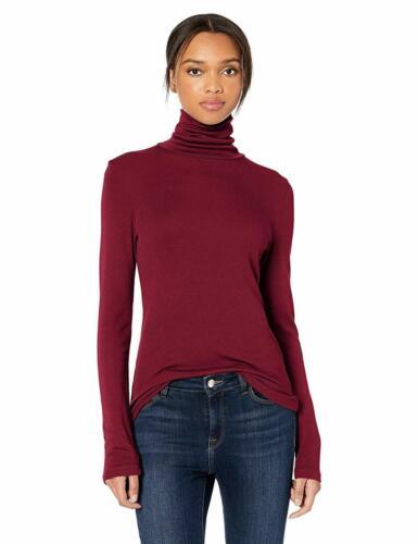 Splendid 1x1 Rib Long Sleeve Turtleneck Tee T-Shirt Choose SZ//Color