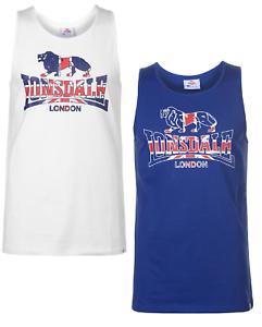 Lonsdale Herren Ärmellos Tank Top Weste Vest Tshirt T-shirt T Shirt 5000