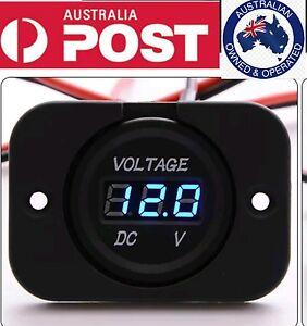 12V-24V-Car-blue-flat-LED-Digital-Display-Voltmeter-Waterproof