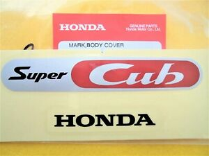 Honda Genuine Super Cub Side Sticker Logo Mark Frame Emblem Uk Stock Ebay