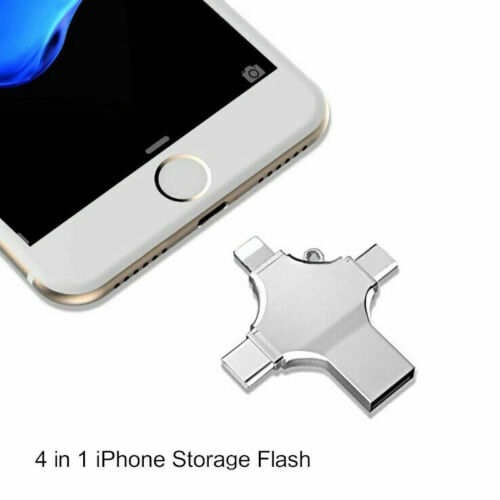 Portable 4 in 1 OTG Memory Stick USB 3.0 Flash Drive for iPhone Android Type C