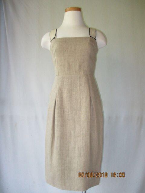 7898ce98d3 Dolce   Gabbana Linen Dress w Shoulder Straps Size 40   4 Excellent ...