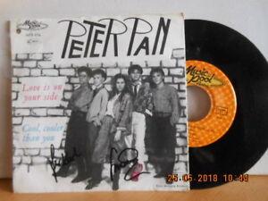 """7"""" 1986 AUSTRIA Rarität """"mit Unterschrift"""" PETER PAN - Love Is On Your Side - Bgld, Österreich - 7"""" 1986 AUSTRIA Rarität """"mit Unterschrift"""" PETER PAN - Love Is On Your Side - Bgld, Österreich"""