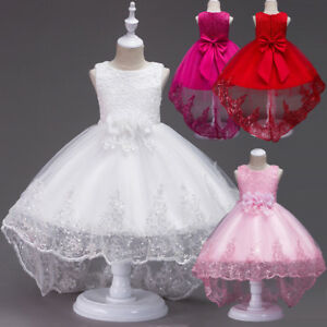 Flower Girl Bow Princess Dress Xmas Kids Formal Dresses Party ... d46c92b6a5ad