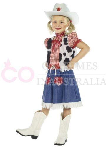 Cowgirl Sweetie Kids Girls Children Western Wild West Cowboy Fancy Dress Costume