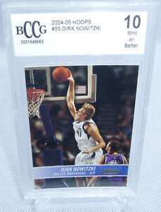 2004-05 NBA Hoops Dirk Nowitzki Card #55 BCCG Graded Mint or Better 10 MAVERICKS