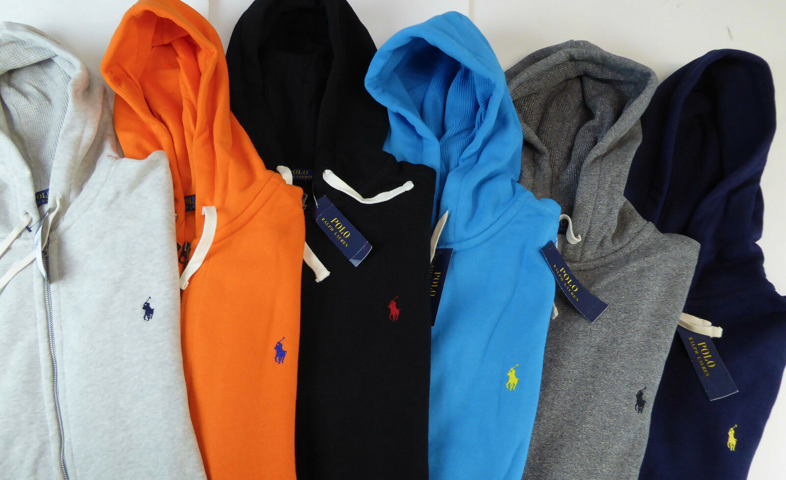 Polo Ralph Lauren Full Zip Cotton Fleece Hoodie Hooded Sweatshirt 125 NWT  Pony