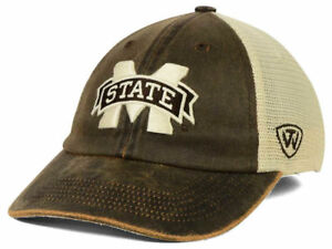 Image is loading Mississippi-State-Bulldogs-NCAA-Scat-Mesh-Brown-Snapback- b44dcbcc076f