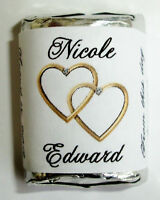 300 Double Linking Gold Hearts Wedding Candy Wrappers Favors