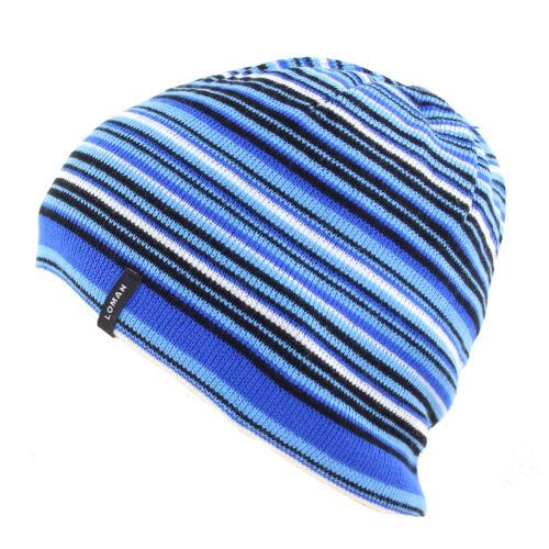 Loman Kinder Jungen Wintermütze WOLLE Beanie Mütze Hat Strickmütze