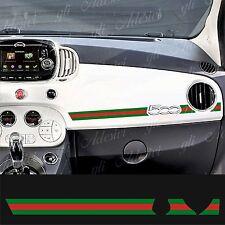 Adesivo Stickers Fiat 500 plancia Abarth Gucci Line