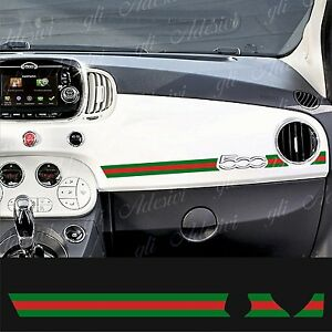 adesivo stickers fiat 500 plancia abarth gucci line ebay. Black Bedroom Furniture Sets. Home Design Ideas